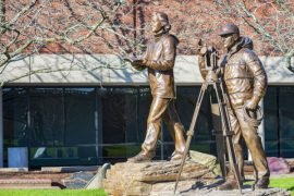 Barbara and Brad Washburn Statue