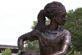 'MVP' African-American Girl Statue, Honoring Ora Washington