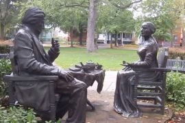 Let's Have Tea Statue of Susan B. Anthony and Frederick Douglass